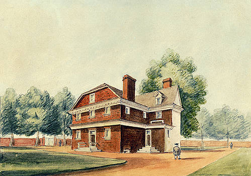 Residence of Chief Justice William Tilghman, Philadelphia, 1826 by William Breton