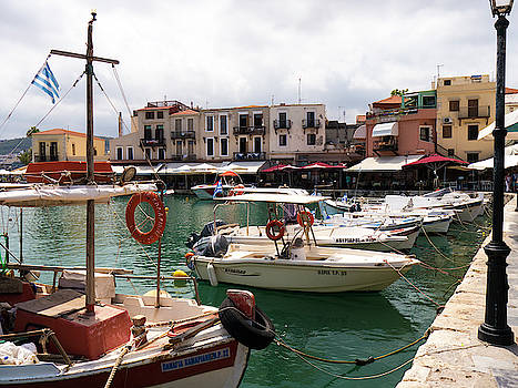 Rethymno Harbour by Rae Tucker