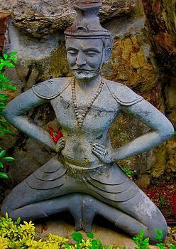 Reusi Dat Ton  Statue at Wat Po, Bangkok, Thailand by David Wells