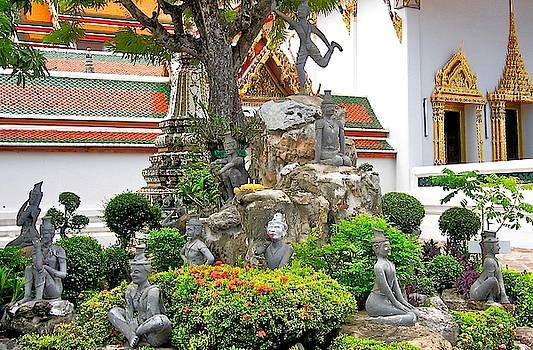 Hermit's Mountain, Wat Po, Bangkok, Thailand by David Wells