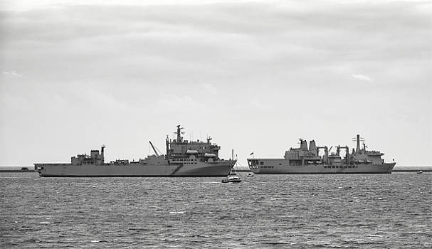 RFA Argus and RFA Fort Victoria by Chris Day