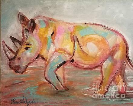 Rhino Splash  by Lisa Gilyard