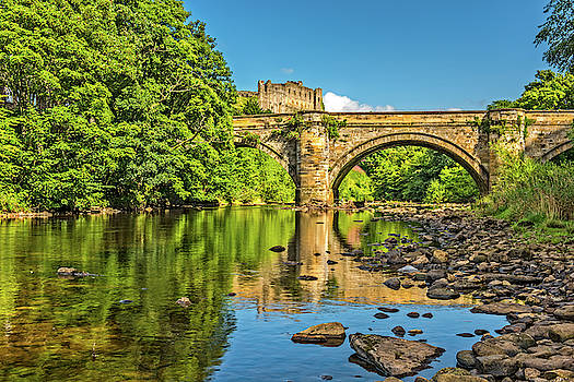 David Ross - Richmond Castle and the River Swale