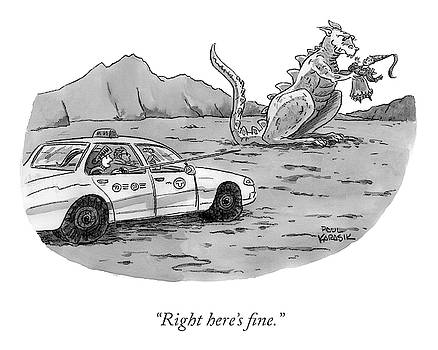 Right Here's Fine by Paul Karasik