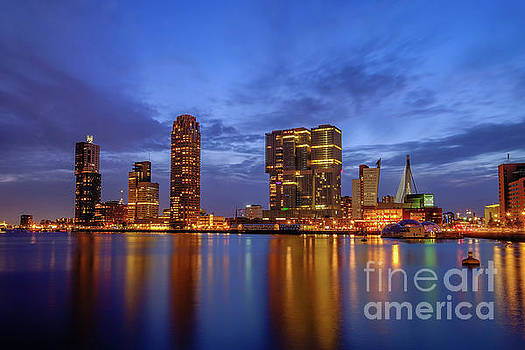 Rijnhaven by Night by Johan Vanbockryck