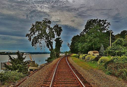 Railroad at Jones Point by Thomas McGuire