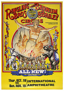 Ringling and Barnum Bos Circus - Vintage Advertising Poster by Siva Ganesh