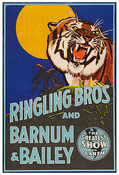 Ringling Bros and Barnum and Bailey - Vintage Advertising Poster by Siva Ganesh