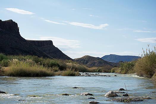 Rio Grande Before The Wall by Lu Prescott