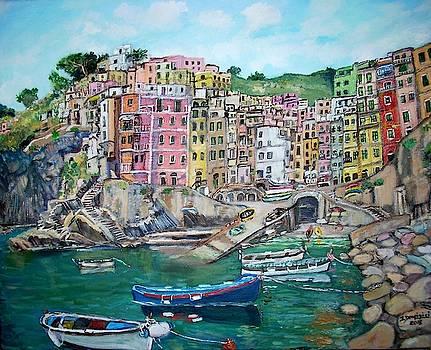 Riomaggiore by Teresa Dominici