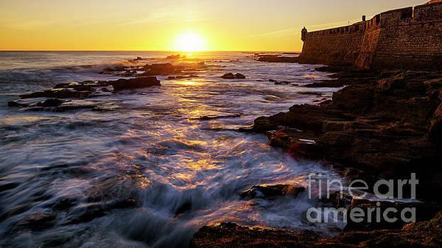Rising Tide Saint Sebastian Castle Cadiz Spain by Pablo Avanzini
