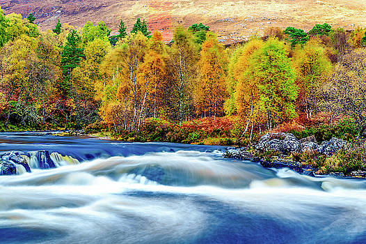River Affric in Autumn Colours by John Frid