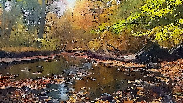 River In The Woods by Bakke and Schweizer Paintings