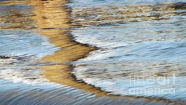 River Water Reflection Abstract               Spring             Indiana by Rory Cubel