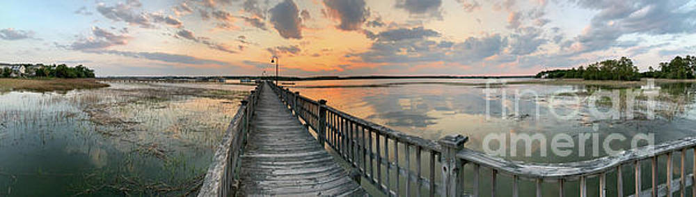 Rivertowne on the Wando - Sunset Landscape by Dale Powell