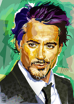 Robert Downey Jr. Pop art Portrait by Garth Glazier