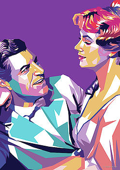 Robert Preston and Shirley Jones by Stars on Art