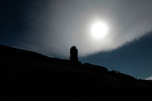 Toby McGuire - Rock Cairn Sunrise on Wright Mountain Adirondacks