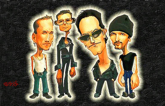 Rock n' Roll Warriors - U2 by Ebenlo - Painter Of Song