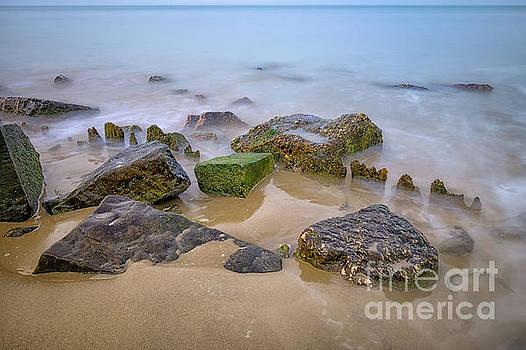 Rocks on the Beach by Johan Vanbockryck