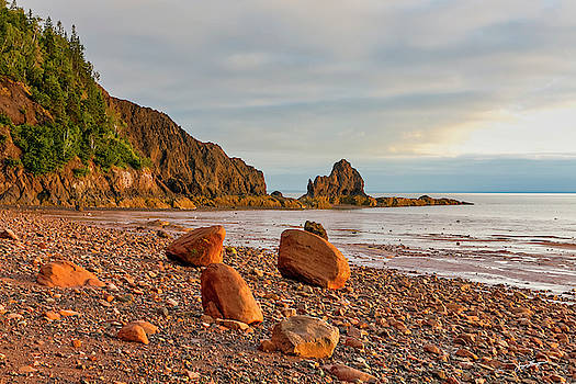 Rocky Beach Sunset by Jurgen Lorenzen