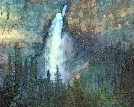 Rocky Mountain Cascade by Don Berg