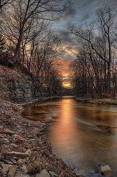 Rocky River Sunset by Jeff Burcher