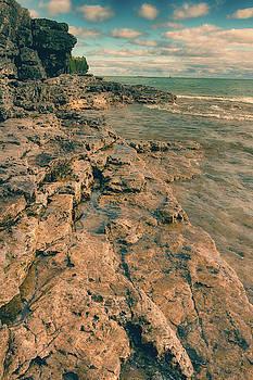 Rocky shore by Angela King-Jones