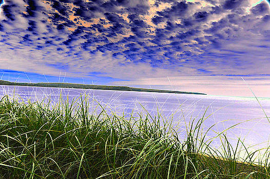 Rolling Blue Sky over Lake Superior by Tom Kelly