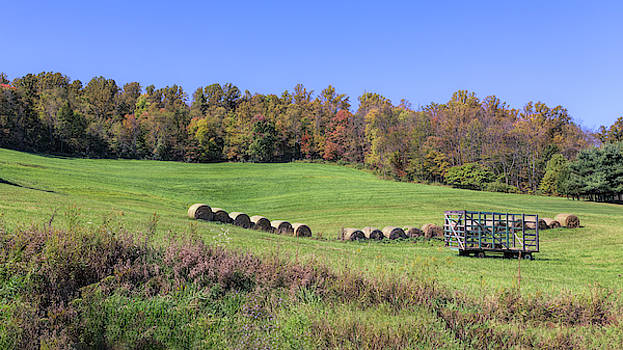 Rolling Hills and Hayrolls by John M Bailey