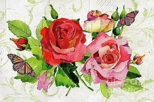 Romantic Red Roses by Jean Plout