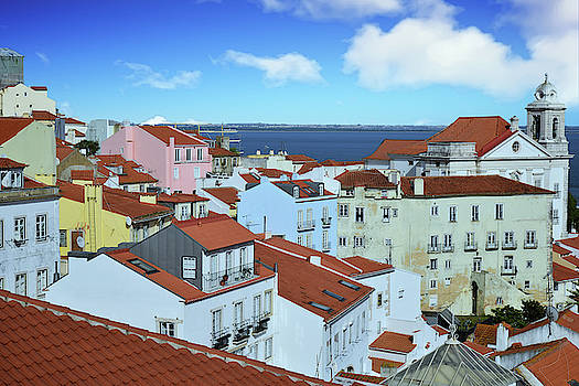 Rooftops of Alfama Lisbon by Kathy Yates