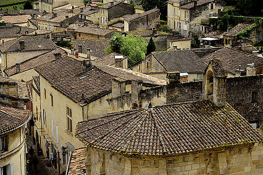 Rooftops of St. Emilion by Kathy Yates