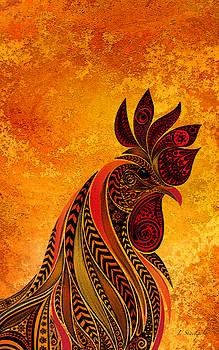 Rooster Portrait by Jennifer Stackpole