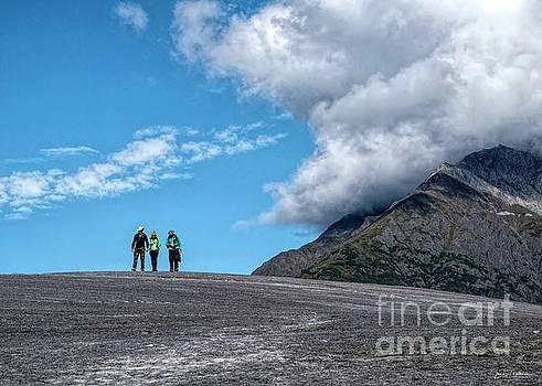 Root Glacier Hikers by Jan Mulherin