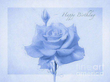 Rosalina Soft Blue Happy Birthday Roses by Mona Stut