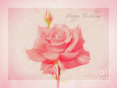 Rosalina Soft Pink Happy Birthday Roses by Mona Stut