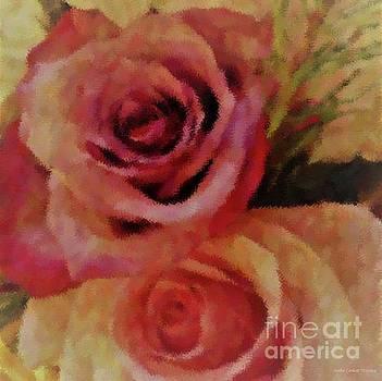 Rose Pair Square by Barbie Corbett-Newmin
