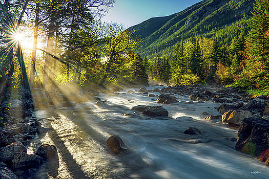 Rosebud Creek Sunrise by Leland D Howard