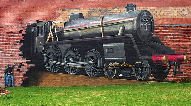 Rosenberg Train Mural by Warren Gale