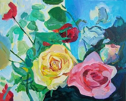 Roses Diagonal  by Aletha Kuschan