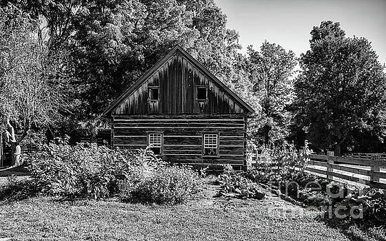 Ross Farm - Upper Canada Village Black and White by Robert McAlpine