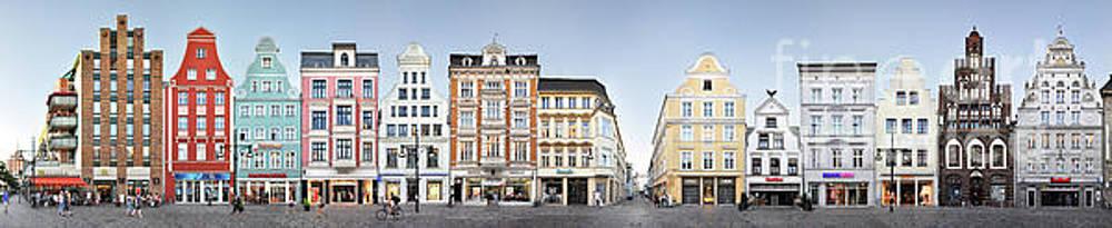 Rostock Shopping Street Panorama by Joerg Dietrich