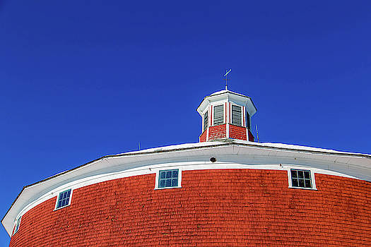 Round Barn Looking Up by Tim Kirchoff