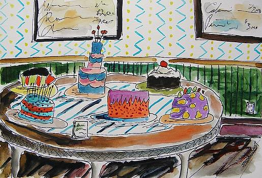 Round Table of Cakes by John Williams