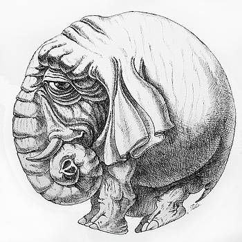 Rounded Elephant by Victor Molev