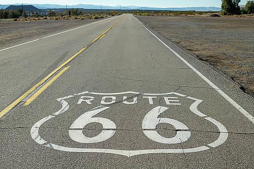 Route 66 Shield Near Amboy CA by Steve Gadomski