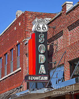 Route 66 Soda Fountain Neon Sign by Catherine Sherman