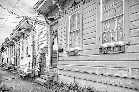 Kathleen K Parker - Row Houses - black and white NOLA