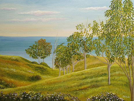 Beachhead Of Eucalyptuses by Angeles M Pomata